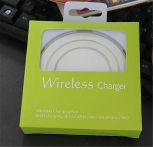 2018 hochwertige Universal Qi Wireless-Ladegerät für Samsung Note8 Galaxy s7 Edge s8 plus note8 mobile Pad mit Paket USB-Kabel