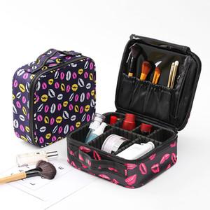 Профессиональный тщеславие косметический мешок организатор женщины путешествия составляют случаи большой емкости косметика чемоданы для макияжа Jxsltc Neceser