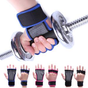 Apoio para o punho Halterofilismo Gym Fitness Mão Straps metade do dedo luvas palma pulso Protector Dumbbells Horizontal Bar Esportes L365