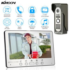 7 '' TFT LCD Kablolu Görüntülü Kapı Telefonu Görsel Video Interkom Hoparlör Interkom Sistemi Ile Su Geçirmez Açık IR Kamera