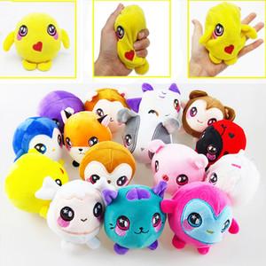Squishamals Kawaii animal Plush mole Stuffed lenta Nascente Brinquedos Apaziguador encantos de telefone Squeeze descompressão brinquedos dos miúdos presente