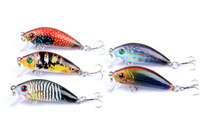 5pcs lot 3.8G 5CM Fishing Lures rock Crank Bait Diving Crankbait Minnow Bass Treble Hooks swim Hard lure baits Wobbler Tackle