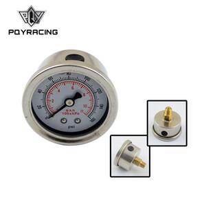 PQY RACING - 연료 압력 게이지 액체 0-100 psi / 0-160 psi 오일 압력 게이지 연료 게이지 검정 / 흰색 페이스 PQY-OG33