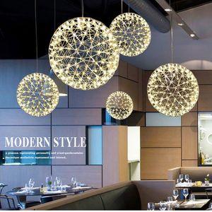 Lampes à la personnalité minimaliste modernes et classiques La lampe à LED ronde classique Les perles de l'art scintillent le chandelier