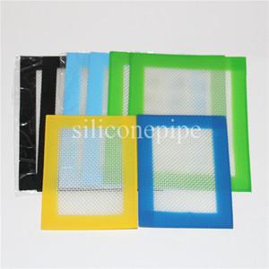 Platino curado antiadherente BHO Silicona Dab Mat Pad Slick Dabber para hornear Wax 11 * 8.5cm o 14 * 11.5cm almohadillas de esteras concentradas aprobado por la FDA