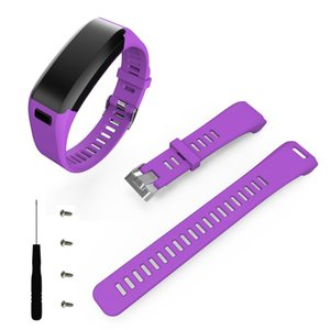 2017 Hot Original watchbands Staps 8 candy color Fashion Sports Silicone Band Strap Bracelet + Tool For Garmin Vivosmart HR