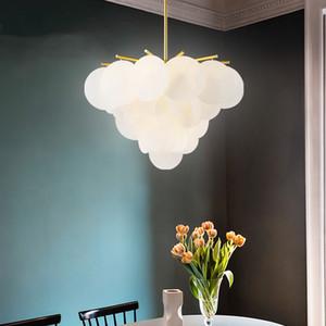 호텔 홈 거실 장식 전등 PA0512 현대 LED 펜던트 램프 화이트 아크릴 꽃 빛