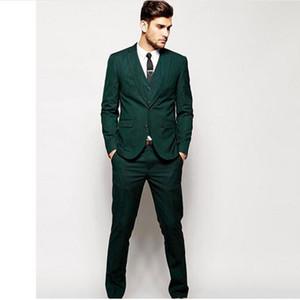 새로운 패션 망 정장 맞춤형 그린 남자 웨딩 정장 슬림 맞는 Groommen 웨딩 정장 정장 턱시도 (자켓 + 바지 + 조끼)
