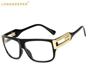 Long Keeper Vintage Clear Lens Occhiali da vista Donne Designer di marca Cornice quadrata Occhiali da vista Occhiali da vista da uomo Unisex