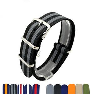 10pcs / lot Militaire Armée De Nato Nylon Montre Bracelet De Montre Bracelet Bracelets 18mm 20mm 22mm