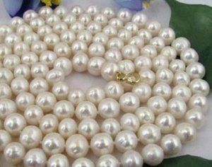 33 INCH 9-10MM NATURAL SOUTH SEA GENUINE WHITE PEARL NECKLACE