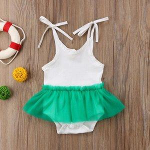 유아 복장 민소매 복장 2018 신생아 점프 슈트 옷 Tulle Playsuit Girl 투투 유아 새로운 Romper Summer Baby Brand Baby
