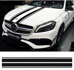Edition For W204 Bonnet Stripes Hood Decal Benz Cover Stickers 1 Engine Style GLA C A GLC CLA 45 AMG W176 C117 Mercedes W205 Brqsw