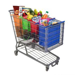 4 Adet / takım Alışveriş Sepeti Arabası Çantaları Katlanabilir Kullanımlık Bakkal Alışveriş Çantası Eko Süpermarket Çanta Kullanımı Kolay ve Ağır Bolsas