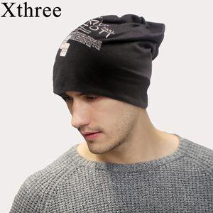 Xthree Bahar Sonbahar Erkekler Beanies Şapka Balaclava Ulusal bayrak Kadınlar Için Ince Pamuk Skullies bere Unisex