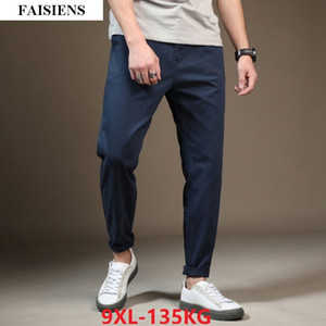 FAISIENS Men Casual Pencil Pants 44 46 48 Elasticity Large Plus Size Big 7XL 8XL 9XL Summer New Loose Khaki Harem Pants Trousers