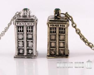 Doktor Who, klassische antike silberne antike Goldhalskette personalisierte Halskette zwei Farboptionen Freies Verschiffen a376
