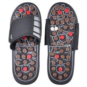 Pantofole per massaggio ai piedi Scarpe per la salute Sandali Massaggi Riflessologia Piedi Anziani Prodotti per la cura salutari Pebble Stone Massager Shoes