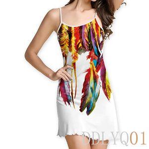 Women Floral Print Sleeveless Boho Dress Evening Gown Party Short Chiffon Mini Dress BOHO Womens Clothing Apparel