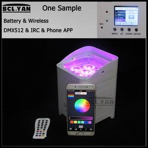 화려한 배경 4 / 6x18w 6 1 LED 배터리 무선 DMX 파 uplighting IRC 와이파이 전화