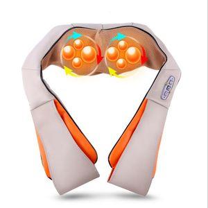 Großhandels-U-Form elektrisches Shiatsu zurück Ansatz-Schulter-Körper-Massager-Infrarot erhitztes knetendes Auto / Hauptmassage