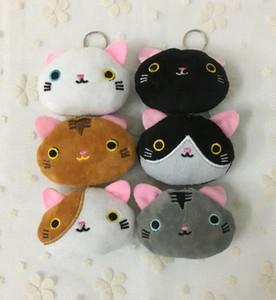 40PCS / LOT, Super Kawaii Mini 6CM 6 Colori CAT Giocattoli Farciti, portachiavi peluche della catena chiave, giocattoli del gancio chiave