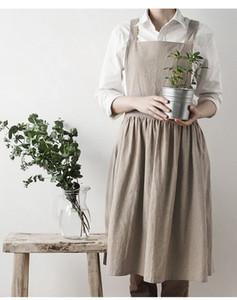 Eco-Friendly Tabliers simple en coton délavé uniforme unisexe adulte Tabliers de cuisine « S femme Lady cuisine Jardinage Coffee Shop