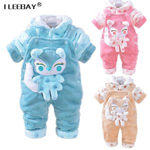 4-24M Baby Winter Clothing Sets 3D Animal Fox Hooded Coat+ Pant Jumpsuits Kids Twinset Long Sleeve Velvet Thick Newborn Clothes