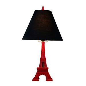 OOVOV Vintage Study Tour Eiffel Chambre Lampe de table créative Chambre Lampes De Table Lamp Desk Kids Room