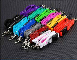 50pcs / lot 러브 넥 스트랩 분홍색 좁은 끈 실버 금속 클립 멀티 컬러 키 전화 작업 ID 카드 소지자와 50cm / 1.5cm 목걸이 도매