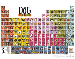 Tier Poster Der Hund Tisch der ELements Poster Home Decor Tapete Kunst Poster Drucken Photopaper 16 24 36 47 Zoll