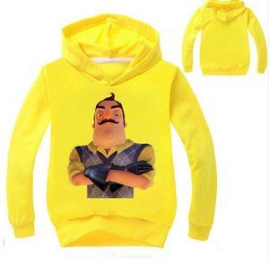 2-14Years Merhaba Komşu Hoodie Çocuk Kazak Boys Gömlek Kinder Dış Giyim Yağmur Ceket Bebek Palto Kızlar Hoody Coat