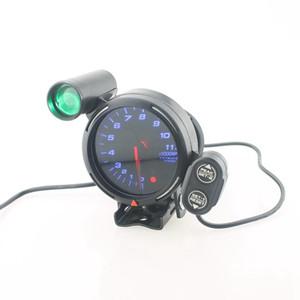 Бесплатная доставка 80 мм 3.75 дюймов DEFI BF стиль гоночный датчик автомобиля RPM датчик синий свет LED тахометр датчик