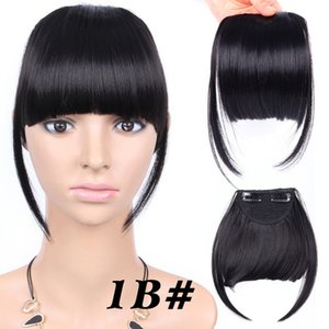 6 inches Short Front Neat bangs Clip in bang fringe Hair extensions straight Synthetic 100% Real Natural hairpiece