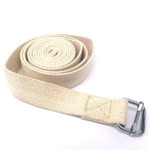 Stretch Yoga Strap durevole puro cotone Esercizio cinghie cinghia regolabile D-Ring Buckle dà la flessibilità per Yoga Puro Cotone