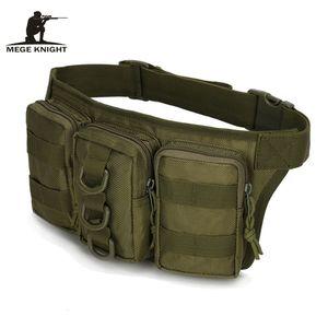 MEGE KNIGHT Outdoor Sport Camouflage Storage Tasche triple Tasca tattica multifunzionale Marsupio Marsupio Marsupio