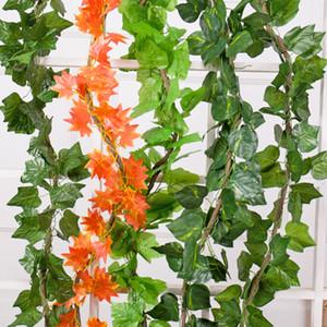 Artificial Maple Planta Verde Ivy Folhas Artificial Videira Uva Parthenocissus Folhagem Falsa Falsa Boston Ivy Casa Decoração Do Casamento Bar
