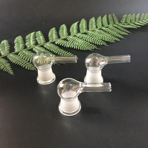 Adaptador de vapor de vidrio 14 mm y 18.8 mm hembra 90 grados Tubo de vidrio de 9,5 mm de diámetro para caber en bongs de agua de látigo xhalevape vaporizador accesorio