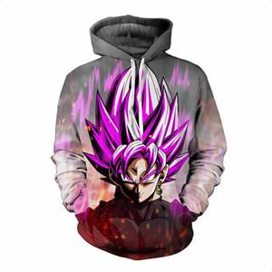 Dragon Ball Z Hoodies 3D Print Pullover Sportbekleidung Sweatshirts Super Saiyan Son Goku Schwarz Zamasu Vegeta Bulma Tops Outfit