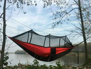 Factory Direct A Variety of Color Matching Parachute Cloth PreventMosquitoes Hammock Mosquito Net Hammock Travel Camping Special
