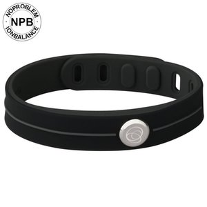 Noproblem Therapy Bands impermeabili Choker Ion Balance Charm Germanio Tormalina Power Hologram Bracciale in silicone S915
