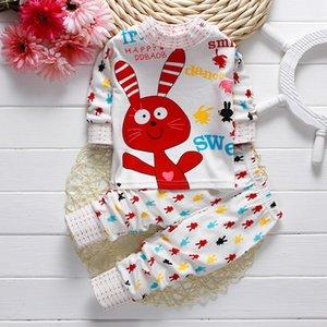 Otoño Invierno Kids Suits Baby Sleepware Inicio Traje de noche Trajes Niños Niñas Pijamas Ropa para niños Pantalones Camisas