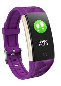 Pression artérielle T20 Couleur fréquence cardiaque SmartBand Oxygène sanguin Poignet intelligent Bracelet de remise en forme Bracelet Bracelet Sports Tracker Podomètre