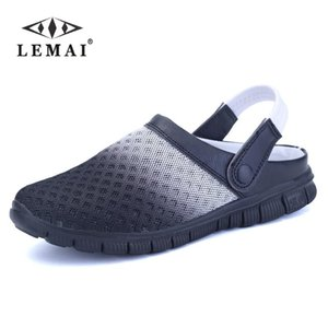 Men's Summer Shoes Sandals 2018 New Breathable Men Slippers Mesh Lighted Casual Shoes Slip On Shoes Beach Flip Flops
