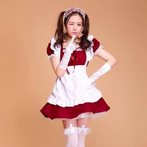 Kadınlar için Cadılar Bayramı kostümleri artı boyutu Seksi Fransız hizmetçi Kostüm Tatlı Gotik Lolita Giydir Anime Cosplay Sissy Uniform hizmetçi