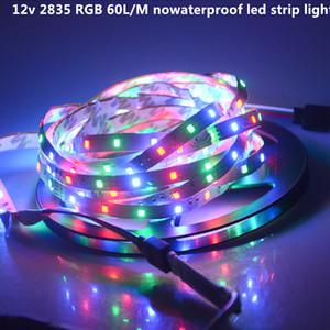 2835 ip20 nowaterproof 5 متر بقيادة قطاع ضوء dc12v مرنة rgb مصباح الشريط 60 المصابيح / م ديكور عطلة عيد الميلاد الشريط الإضاءة
