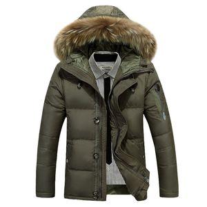 Мужская зимняя пуховая куртка 2018 Толстые теплые мужские пуховики Высококачественный меховой воротник с капюшоном Downcasaco Masculino Inverno XD620