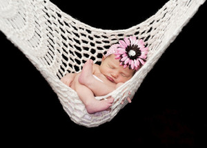 Handmade Baby Hammock Knitted Hanging Bed Photography Props Christmas Infant White Green Costume Outfit Crochet New Design Photo Prop