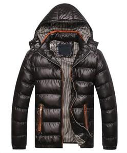 Ropa de algodón para hombres, chaqueta acolchada de algodón, chaqueta, cálida, delgada, gorra grande, ropa acolchada de algodón, comercio exterior M - 4L