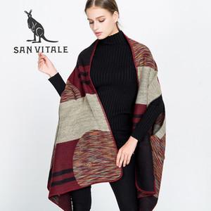 Sciarpa Sciarpa da donna Inverno caldo stile classico Poncho e mantella in cotone Plaid Fascia Pashmina per sciarpe abito 2017 nuova lana